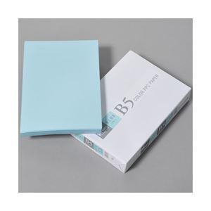 (業務用セット)APPJカラーペーパーブルーB5冊500枚型番:CPB004【×5セット】