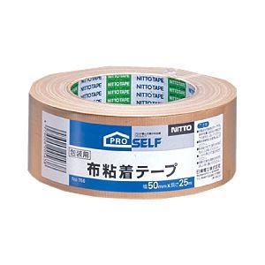 (業務用セット) ニットー 布粘着テープ 幅5.0cm×長さ25m 【×5セット】