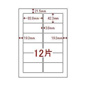 (業務用セット) マルチラベル(A4) 汎用・12面(1片:縦42.3×横83.8mm) 1パック(20枚) 【×5セット】 h01