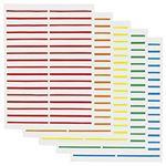 (業務用セット) FAMS プリンター用フォルダーラベル(5色アソート) 10シート入 【×5セット】