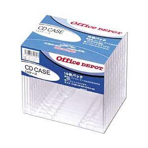 (業務用セット) CD/DVDケース 厚さ10mm 10枚入 【×5セット】 h01
