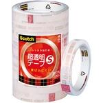 (業務用セット) スコッチ 超透明テープS パック売 (1.5cm×35m) BK-15N 1パック(10巻) 【×5セット】