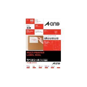 (業務用セット) プリンタ兼用 マット紙 ホワイト A4判4面 1パック(22枚) 型番:72204  【×10セット】 h01
