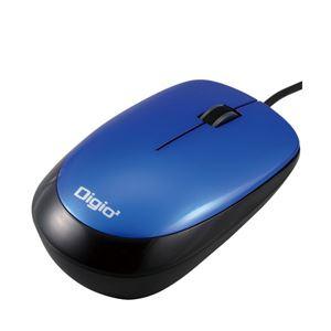 (業務用セット) 3ボタン光学式マウス ブルー 1個 型番:MUS-UKT114-BL 【×5セット】 h01
