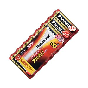 (業務用セット)パナソニックアルカリ乾電池単3形1パック(8本)【×5セット】