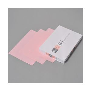 (業務用セット) APPJ カラーペーパー ピンク B4冊 500枚 型番:CPP003 【×3セット】 h01