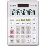 (業務用セット) カシオ(CASIO) W税率対応電卓 小型電卓 10桁 縦14.7×横10.3×厚さ2.9cm MW-100T-WE-N 1個 【×3セット】