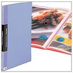 (業務用セット) クリアファイル カラーベース(タテ) A3・ポケット20枚・ブルー 【×3セット】