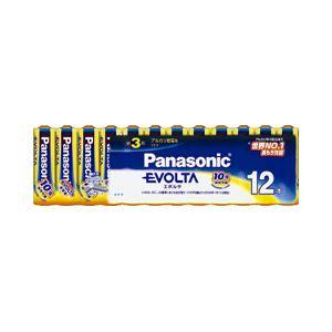 (業務用セット)パナソニックアルカリ乾電池エボルタ単3形1パック(12本)【×3セット】