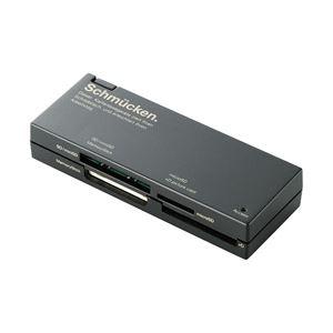(業務用セット) エレコム(ELECOM) ケーブル収納46+2メディア対応カードリーダ ブラック MR-C23BK 1個 【×3セット】 h01