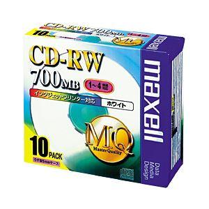 (業務用セット) 日立マクセル CD-RW 700MB ホワイトレーベル 個別ケース 10枚入 【×3セット】 h01