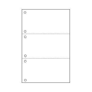 (業務用セット) プリンタ帳票A4(白紙タイプ) 3面・6穴 1冊(500シート) 【×3セット】 h01