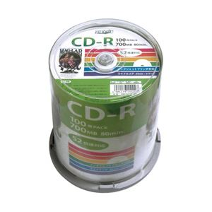 (業務用セット) 磁気研究所 大容量ケース入 CD-R 100枚 型番:HDCR80GP100 【×2セット】