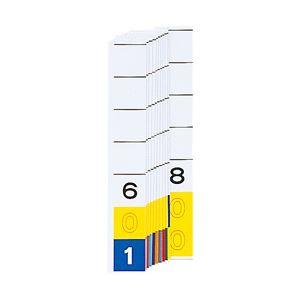 (業務用セット) カラーナンバーラベル見出し紙 「601〜800」 HK784-6 1パック(200枚) 【×2セット】