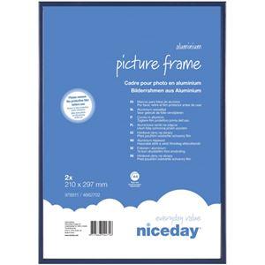 niceday オリジナル アルミニウムフレームA4 ブルー 1パック(2枚)