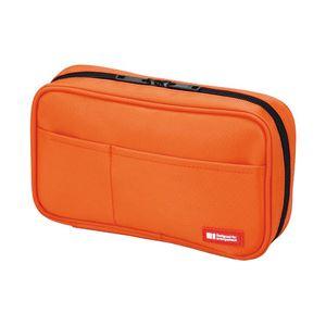 リヒトラブ ペンケース(ブックタイプ) 橙 A-7551-4 1個