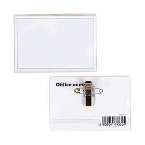オフィスデポ オリジナル 名札バッチ ハードタイプ 1箱(50枚)