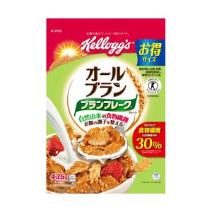 日本ケロッグ ブランフレークプレーン徳用袋 1袋(435g)の画像1