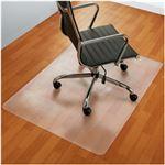 オフィスデポオリジナル チェアマット(フローリング、ハードフロア用・長方形) クリアタイプ 1枚