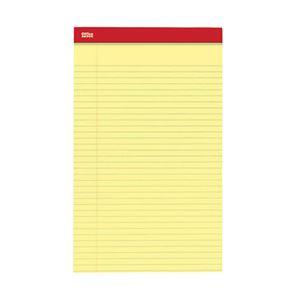 オフィスデポオリジナル リーガルサイズ リーガルパッド イエロー 1パック(50枚×12冊)