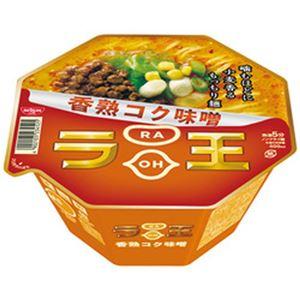 (まとめ)日清 ラ王 香熟コク味噌 1箱(122g×12個)【×2セット】