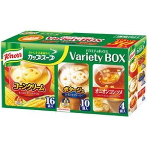 (まとめ)味の素  クノールカップスープ バラエティボックス30袋入 1パック(30袋)【×3セット】