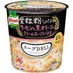 (まとめ)味の素 クノール スープDELI サーモンと黒オリーブのクリームスープパスタ 1箱(6個)【×5セット】