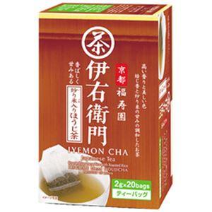 (まとめ)宇治の露製茶 伊右衛門 ティーバッグ 炒り米入りほうじ茶 1箱(2g×20袋)【×10セット】