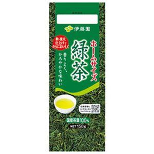(まとめ)伊藤園 ホームサイズ緑茶【×10セット】