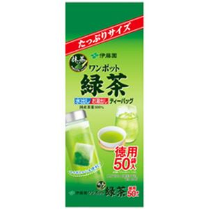 (まとめ)伊藤園 ワンポットティーバッグ 抹茶入り緑茶50袋【×10セット】