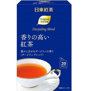 (まとめ)日東紅茶 香りの高い紅茶ティーバッグ 1パック(20袋)【×10セット】