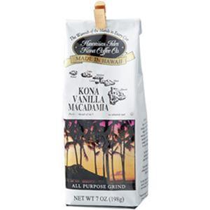 (まとめ)ハワイアン・アイルズ・コナ・コーヒー コナバニラマカダミア 198g 1袋【×5セット】