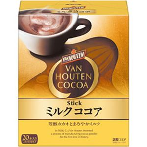 (まとめ)片岡物産 バンホーテン ミルクココア スティック 1箱(18g×20本)【×5セット】