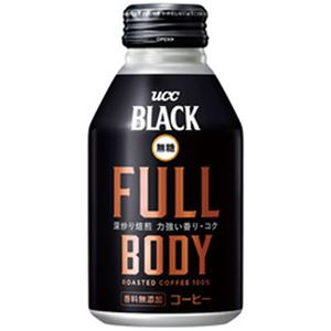 (まとめ)UCC BLACK無糖 FULLBODY 1箱(275g×24缶)【×2セット】