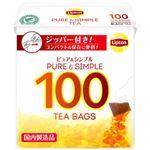 (まとめ)リプトン ピュア&シンプルティー 1箱(100袋)【×10セット】