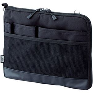 (まとめ)リヒトラブ バッグインバッグA5(ヨコ型) ブラック 1個 A-7680-24【×3セット】