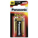(まとめ)パナソニック アルカリ乾電池 9V形 1個【×10セット】
