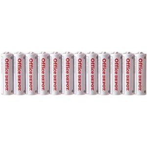 (まとめ)オフィスデポ オリジナル アルカリ乾電池(エコノミー) 単3形 1パック(12本)【×10セット】