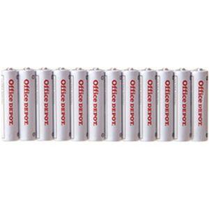 (まとめ)オフィスデポ オリジナル アルカリ乾電池(エコノミー) 単4形 1パック(12本)【×10セット】