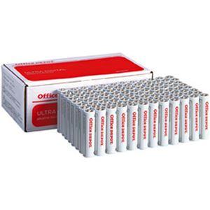 (まとめ)オフィスデポ オリジナル アルカリ乾電池(エコノミー) 単4形 1箱(96本)【×3セット】