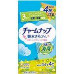 (まとめ)ユニ・チャーム チャームナップ吸水サラフィー パンティライナー消臭タイプ 1袋(34枚)【×10セット】