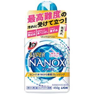 (まとめ)ライオン トップスーパーNANOX本体大 1本(450g)【×10セット】