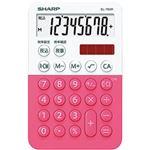 (まとめ)シャープ カラーデザイン電卓 8桁 ピンク系 EL-760R-PX 1個【×5セット】