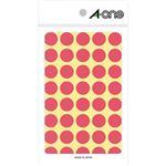 (まとめ)エーワン カラーラベル 丸 桃  1パック(40片×14枚) 型番:07028【×10セット】