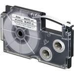 (まとめ)カシオ計算機 ネームランドテープ 粘着はく離テープ 6mm白に黒文字 1個 XR-6GCWE【×5セット】