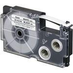 (まとめ)カシオ計算機 ネームランドテープ 強粘着はく離テープ9mm 白に黒文字  1個 XR-9GCWE【×5セット】
