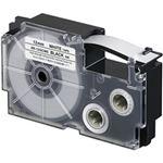(まとめ)カシオ計算機 ネームランドテープ 強粘着はく離テープ 12mm 白に黒文字  1個 XR-12GCWE【×5セット】