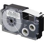 (まとめ)カシオ計算機 ネームランドテープ 強粘着はく離テープ 18mm 白に黒文字  1個 XR-18GCWE【×3セット】