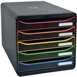 エグザコンタ レターケース BIGBOX PLUS A4縦型5段 ブラック 309914D 1個