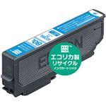 (まとめ)エコリカ リサイクルインクカートリッジ (エプソン ICC80L互換) シアン 1個【×5セット】